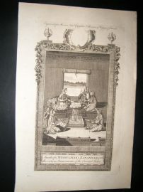 Moore C1782 Folio Print. Inside of a Mussulman's Zanannah, Indonesia India